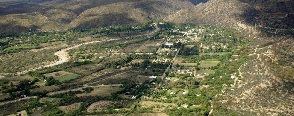 Foto aérea del pueblo