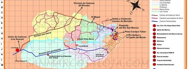 Mapa de San Marcos Sierras
